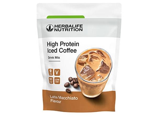 High Protein Iced Coffee Γεύση Latte Macchiato